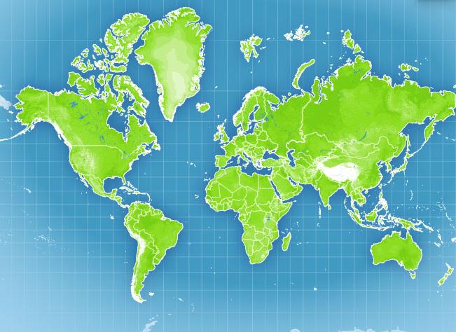 Carte du monde meteo